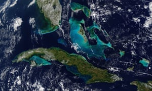 In December 2018 Terra satellite captured this image of the narrow, watery boundaries that separate the US, Cuba, and the Bahamas