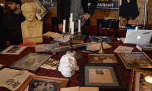 'Good night, Harry': a table full of artifacts related to Houdini.