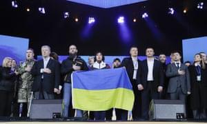 Petro Poroshenko and Volodymyr Zelenskiy