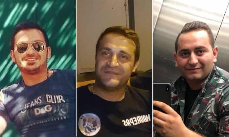 Left to right: Najib Hatti, Charbel Karam and Charbel Hatti. 'Not one official has been in touch to help or offer condolences.'