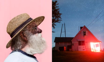 Ken Slater, of the Springfield Telescope Makers, photographed at the annual Stellafane 'star party' convention outside Springfield, Vermont; the Stellafane clubhouse.