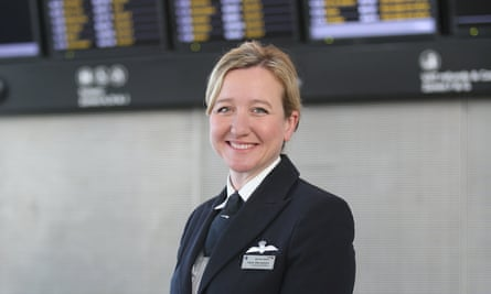 Senior First Officer Helen MacNamara from British Airways, photographed at T5, London Heathrow on 11 March 2015