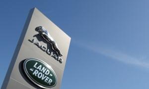 Jaguar Land Rover sign