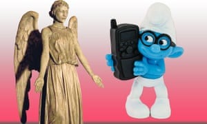 A Weeping Angel and a Smurf