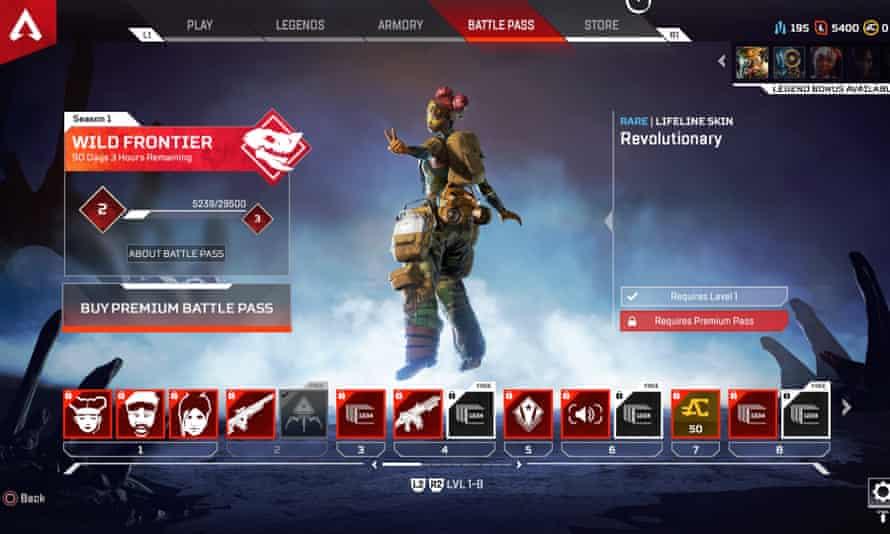 Apex Legends Battle Pass screen