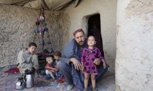 A mud-walled dwelling inside the Charahi Qambar camp.