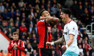 Joshua King reacts and José Fonte celebrates after King's missed penalty – but the striker had the final word.