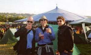 Dorian Lynskey and friends at Glastonbury 2003.