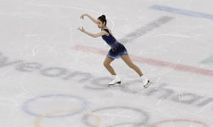 Choi Dabin of South Korea performs during the women's free skate.