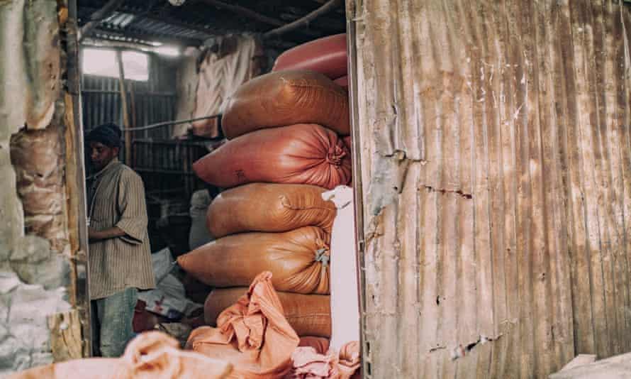 A workshop in the Piassa slum.