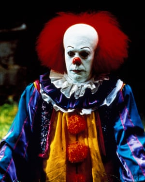 Tim Curry as Pennywise in the 1990 TV film Stephen King's It.