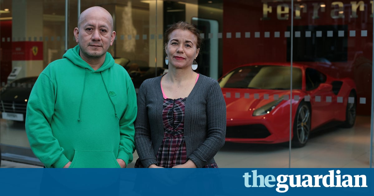 Ferrari showroom cleaners strike for living wage: 'They want us out'