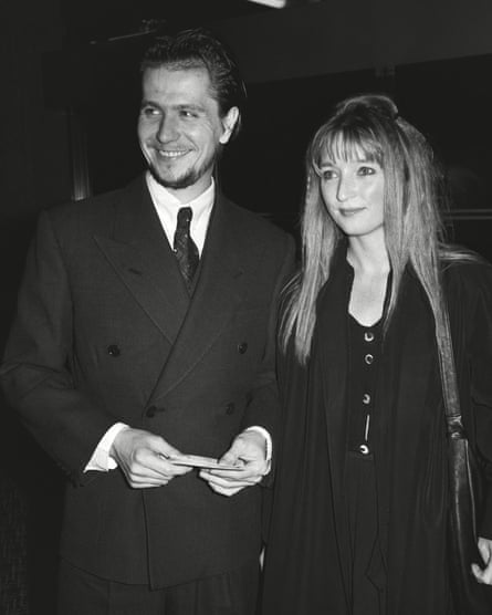 Lesley Manville with her first husband, Gary Oldman, in 1986