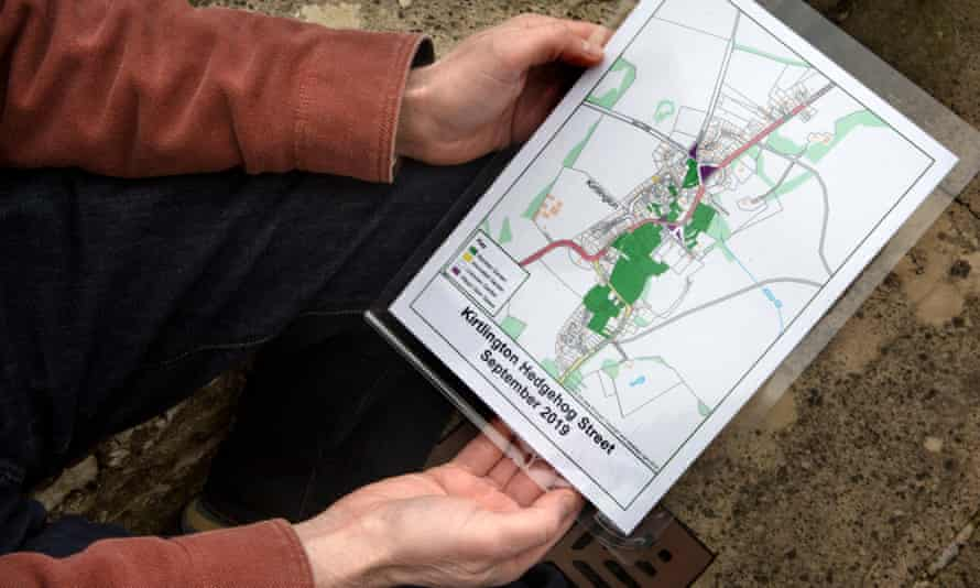 Chris Powles with his map of the network