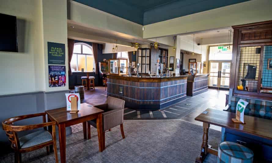 The empty Rocket pub in Whiston, England, 4 November 2020.