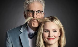 The Good Place's Ted Danson as Michael, Kristen Bell as Eleanor.