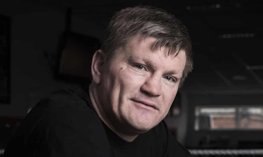 Ricky Hatton pictured at his boxing gym in Manchester.