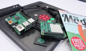 Raspberry Pi kit for a hands on Python workshop.