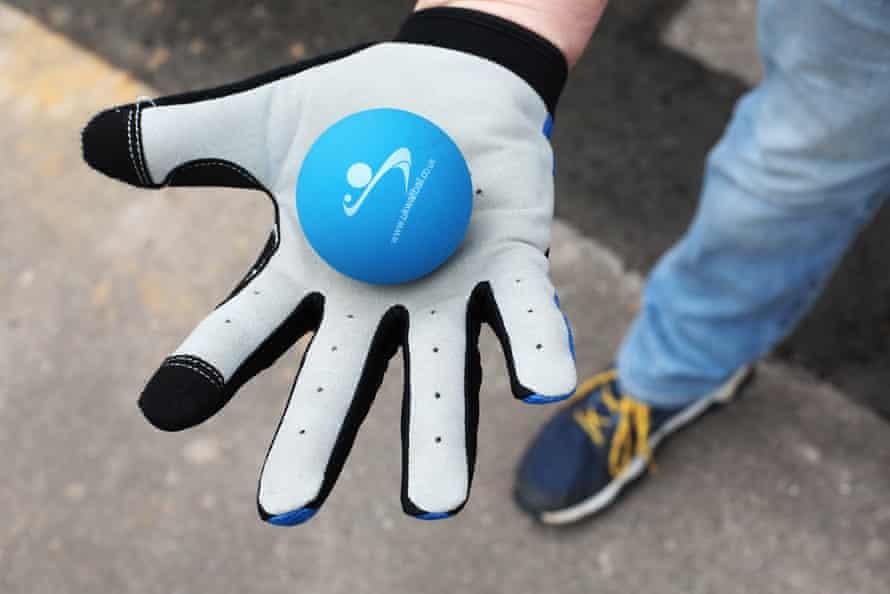 'Wall ball' ball and glove.