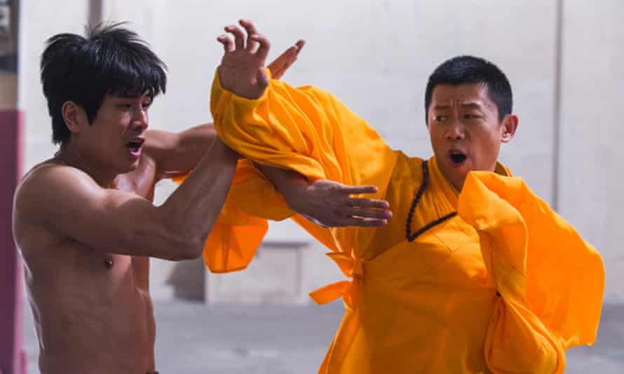 Birth of a race row … Philip Ng (as Bruce Lee, left) and Yu Xia (as Wong Jack Man) in Birth of a Dragon