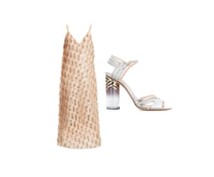Dress, £350 by Raey from matchesfashion.com Shoes, £725 by Nicholas Kirkwood from farfetch.com