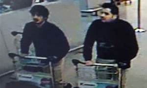 The two men police believe attacked Brussels airport on Tuesday.
