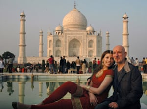 Ben Kingsley, who played Mohandas Gandhi in the film Gandhi, with his wife, Daniela Lavender, in December 2009