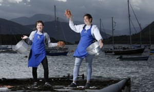 The Seafood Shack's Fenella Renwick (left) and Kirsty Scobie, in Ullapool.