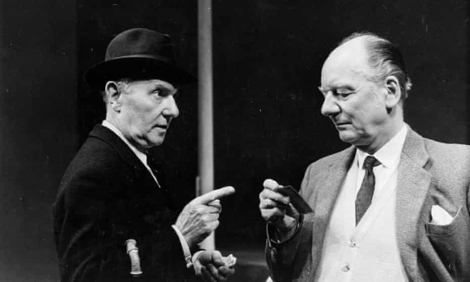 Ralph Richardson, left, and John Gielgud in Home by David Storey.