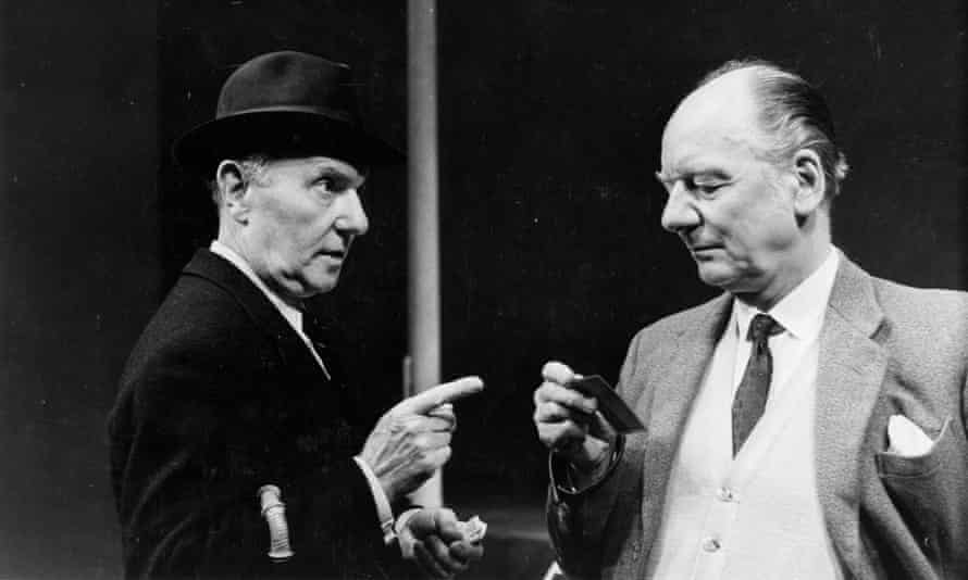 Ralph Richardson, left, and John Gielgud in the Royal Court's production of Home, 1970.