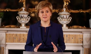 Nicola Sturgeon holds a press conference in Bute House, Edinburgh, after the general election 2017 results.