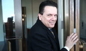 South Australian Independent Nick Xenophon on the ritual known as senate doors this morning in Parliament House Canberra, Wednesday 9th September 2015.