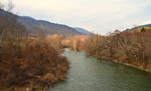 River Struma in Kresna valley, Bulgaria