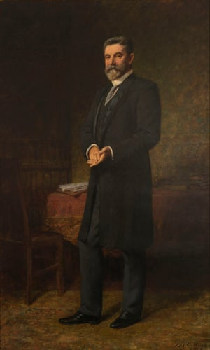 Frederick McCubbin (1855–1917) The Hon. Alfred Deakin, 1914, Historic Memorials Collection, Parliament House Art Collection, Department of Parliamentary Services, Canberra, ACT.