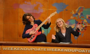 Just for laughs: with Tina Fey on Saturday Night Live in 2005.
