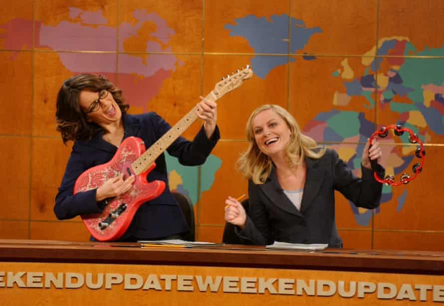 Tina Fey and Amy Poehler on Saturday Night Live's news spoof Weekend Update.