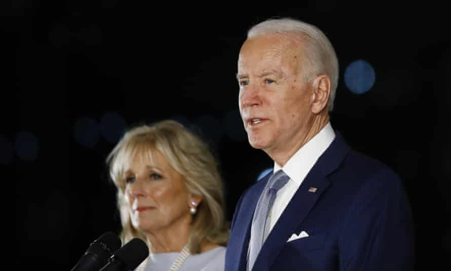 Joe Biden in Philadelphia in March. He has headquartered his campaign in Pennsylvania.