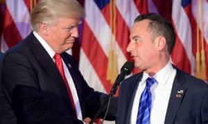 Trump with his new chief of staff, Reince Priebus.