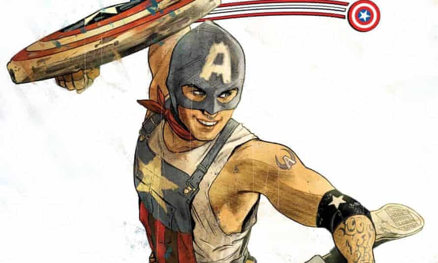 Aaron Fischer, the first gay Captain America in Marvel's history.