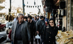 Syrian people walk in the streets of Gaziantep, Turkey