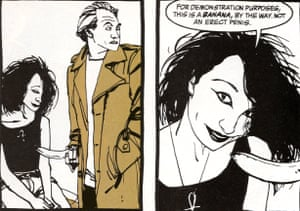 An image from Death Talks about Life, a 1994 Aids awareness comic book by Neil Gaiman and Dave McKean.