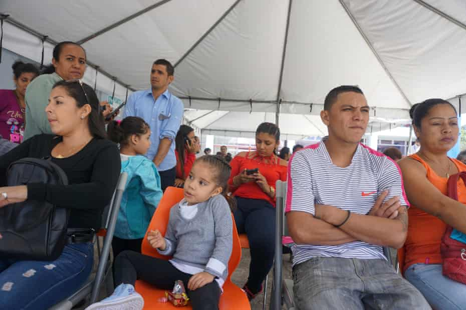 San Jose, Costa Rica. January 23, 2019 At the Center for Migration of the Costa Rican government in San José, Nicaraguans wait to apply for asylum.