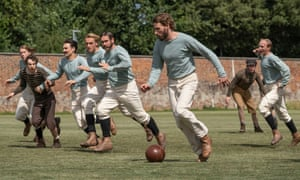 Edward Holcroft as Arthur Kinnaird in playing action during The English Game