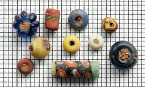 Anglo-Saxon beads owned by the Canterbury Archaeological Trust