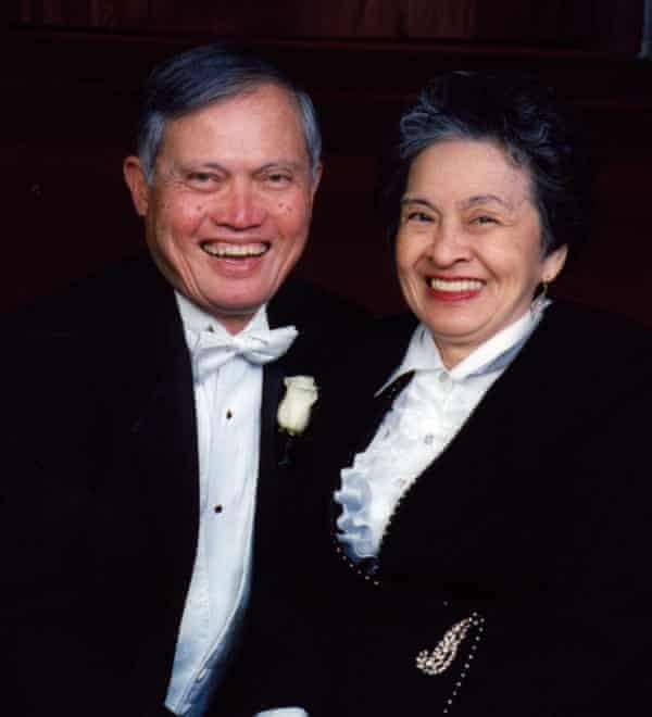 Dr. Eriberto Losada and his wife Divina.  Originally from the Philippines, he was proud to be a doctor and 'proud to be an immigrant who did good'.