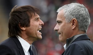Jose Mourinho (right) will face difficult questions if Antonio Conte's Chelsea win at Old Trafford to draw level on points with Manchester United.