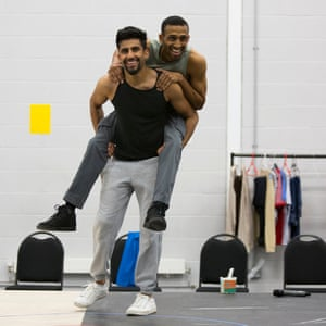 Hareet Deol and Jay Varsani in rehearsal for the Curve show.