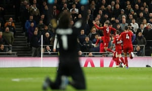 "Premier League - Tottenham Hotspur v Liverpool<br>Soccer Football - Premier League - Tottenham Hotspur v Liverpool - Tottenham Hotspur Stadium, London, Britain - January 11, 2020  Liverpool's Roberto Firmino celebrates scoring their first goal with Andrew Robertson and Virgil van Dijk as Alisson reacts      Action Images via Reuters/Matthew Childs  EDITORIAL USE ONLY. No use with unauthorized audio, video, data, fixture lists, club/league logos or ""live"" services. Online in-match use limited to 75 images, no video emulation. No use in betting, games or single club/league/player publications.  Please contact your account representative for further details."