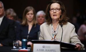 Gina Haspel testifies at her Senate confirmation hearing.