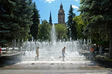 The singing fountain.